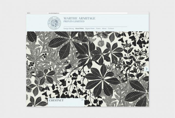website of hand drawed Chestnut Design