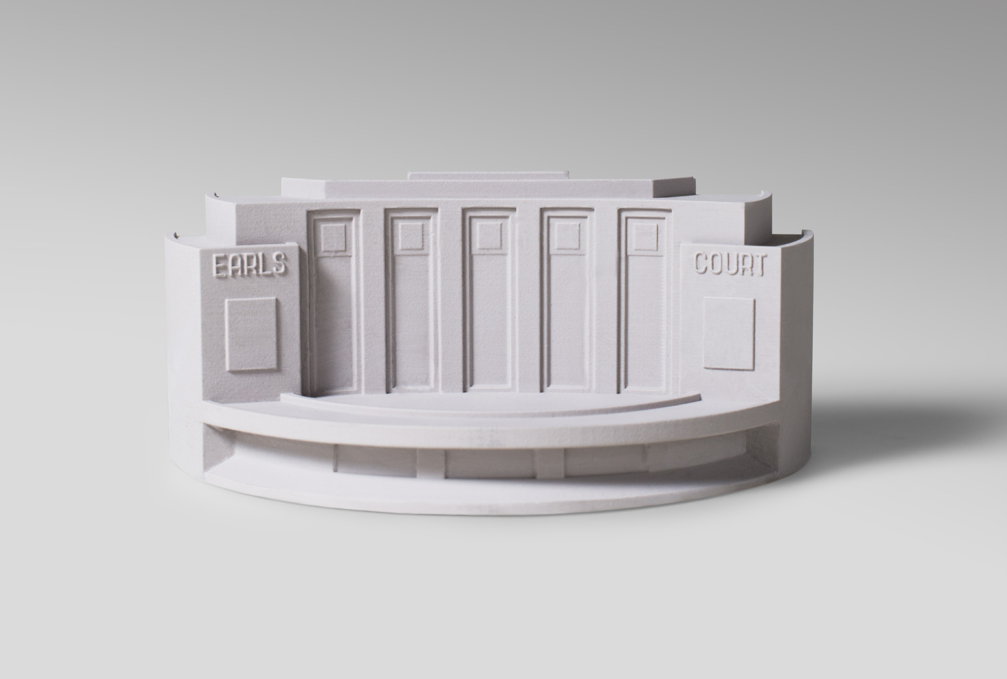 small model made of plaster from the Earls Court