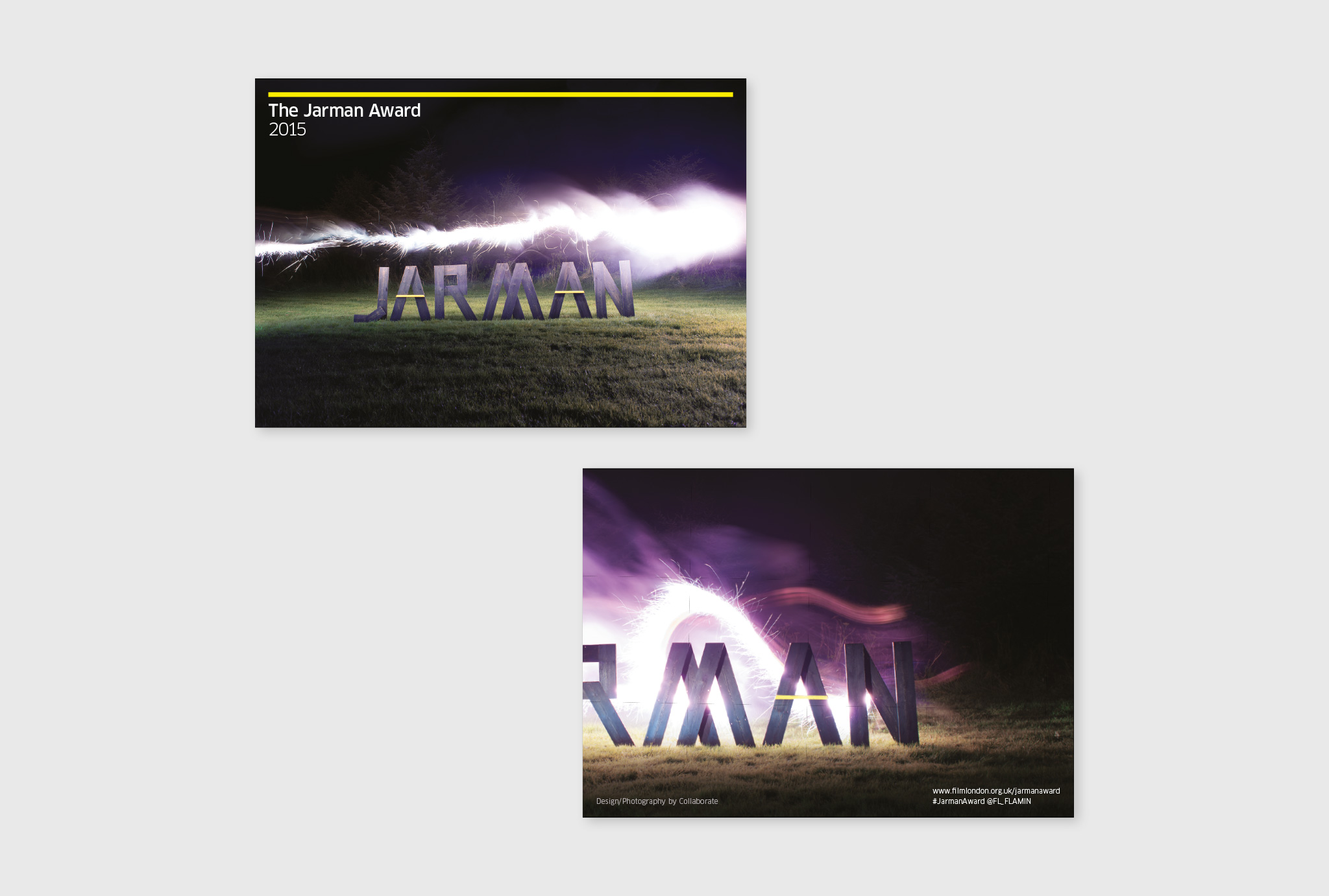photographs in catalogue design for JARMAN awards