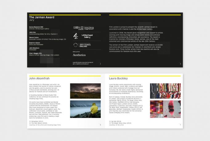 layout design for catalogue in black and white