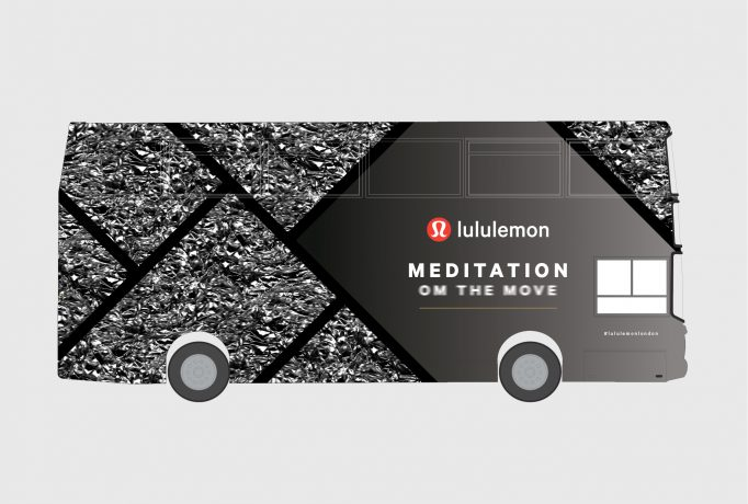 livery design for the Om The Move bus, side view