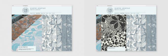 design for the hand prints website