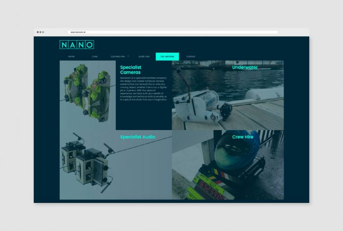 design for services page of website