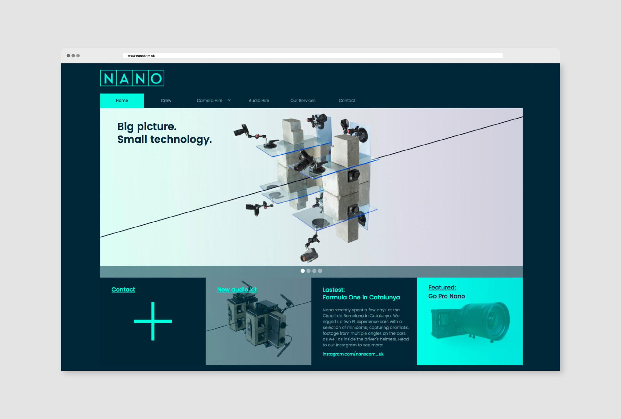 website design for homepage