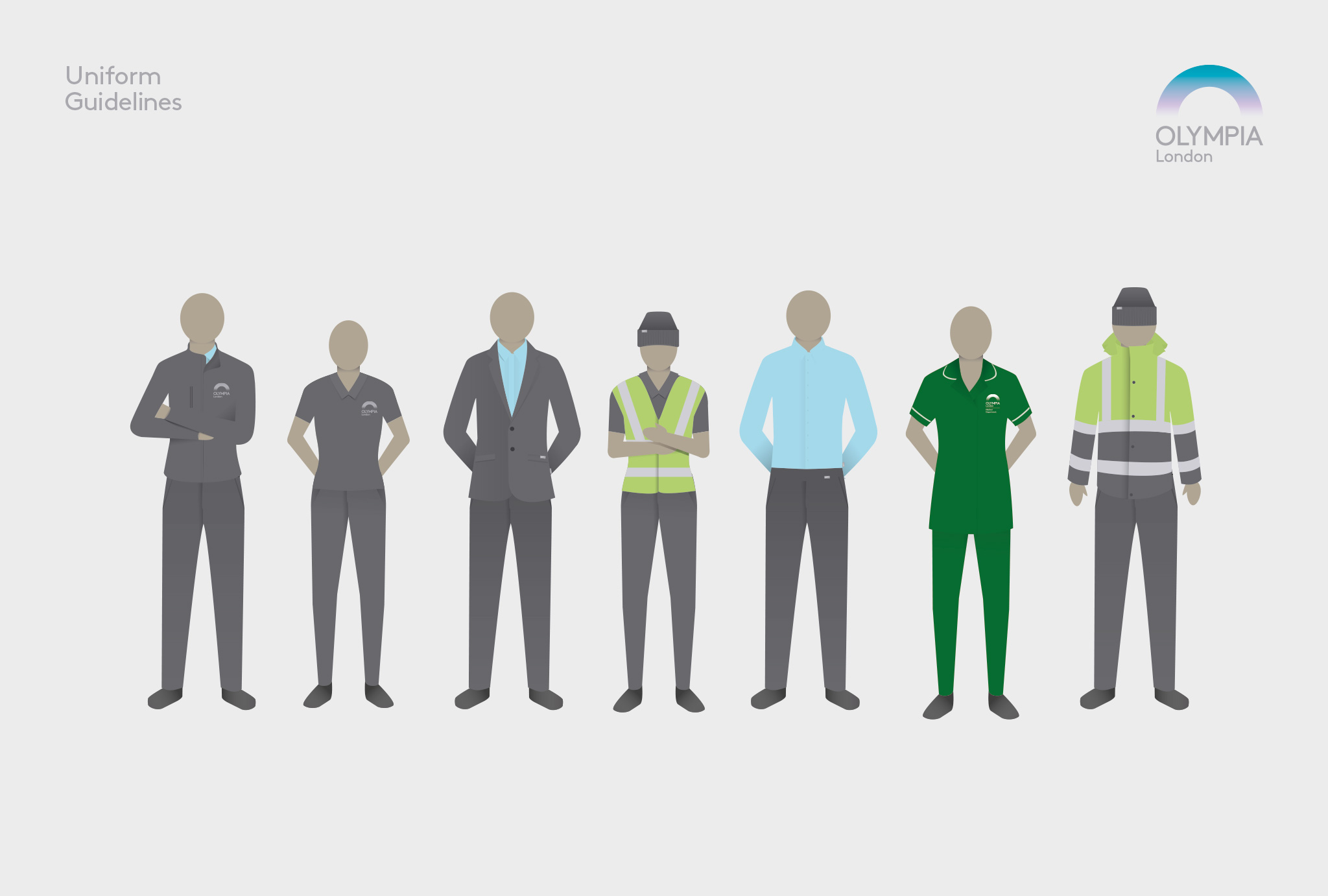 uniform guidelines in a illustration with several people