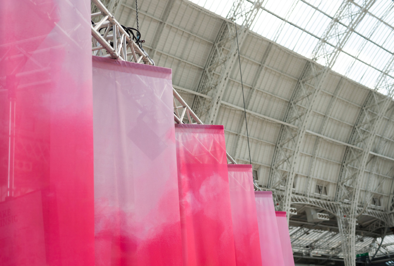 4m high printed drapes enclose the ShopTalk seminar area