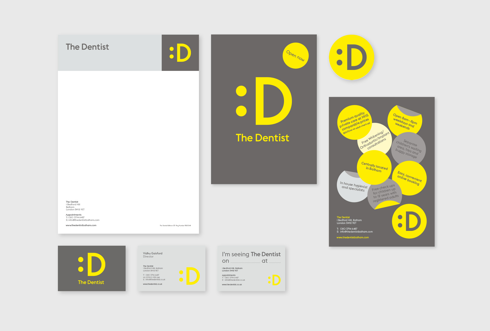 layout design of business cards, letterheads and postcards