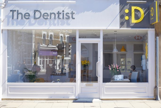 show window from The Dentist