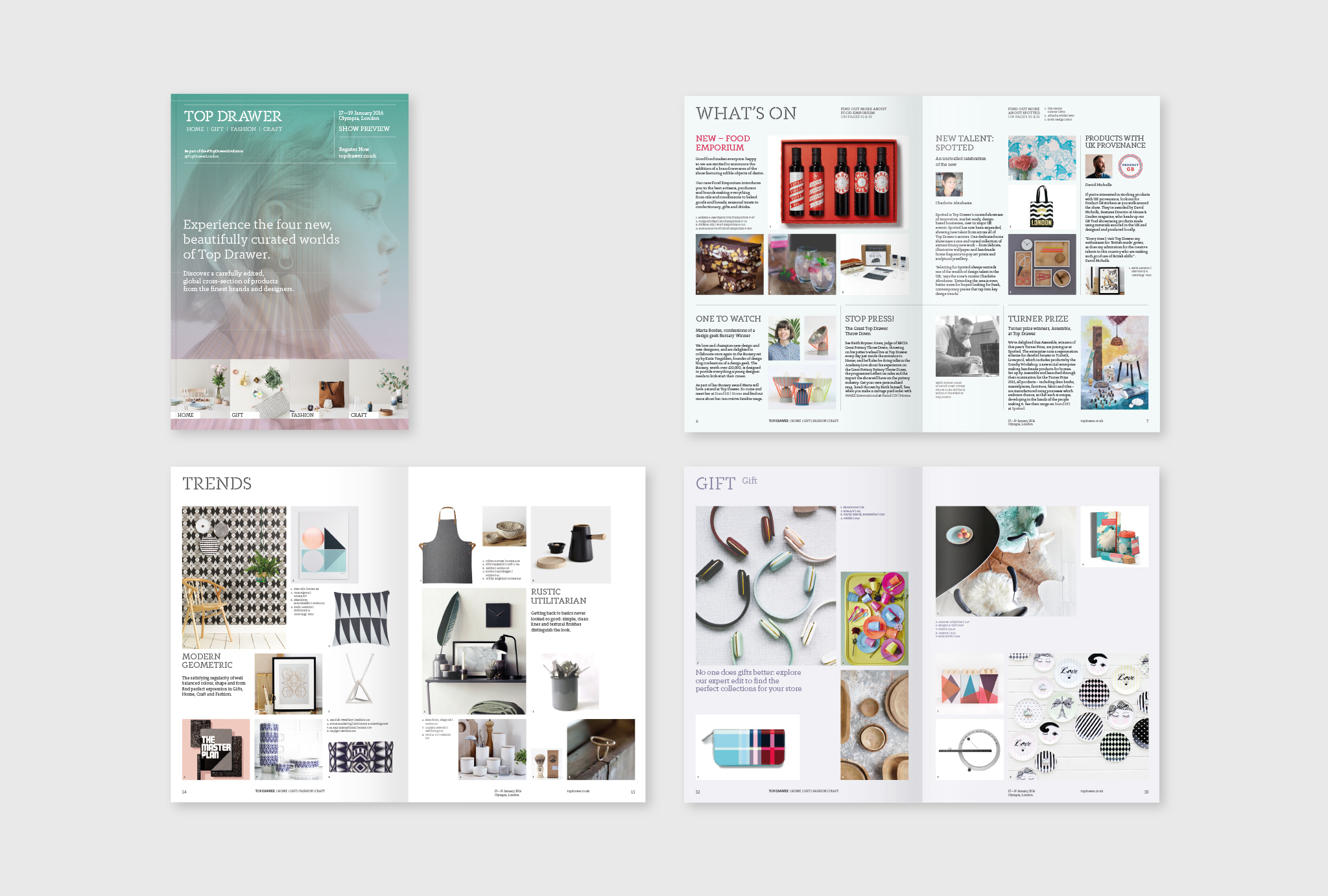 design for the Top Drawer show preview magazine