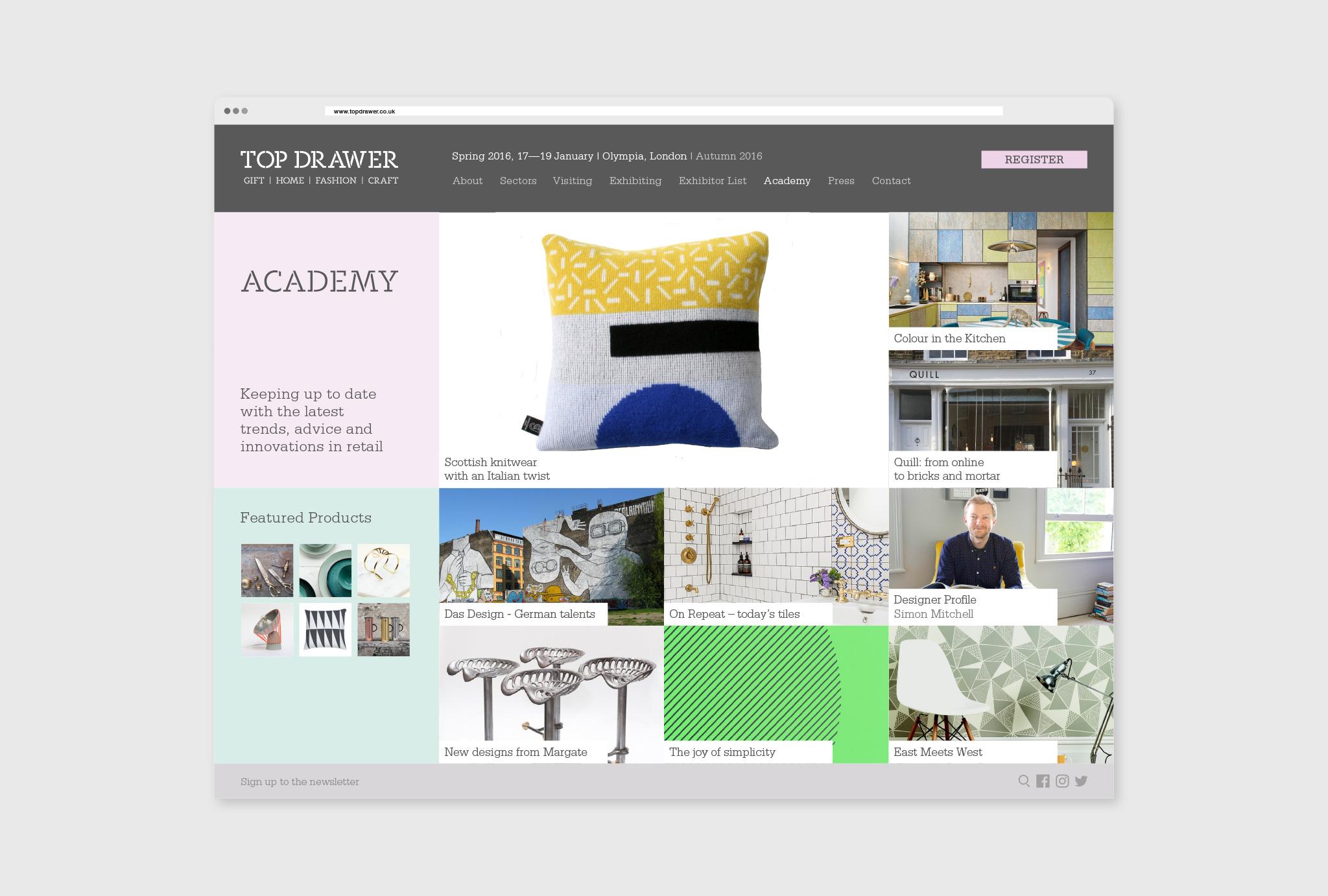academy website deign