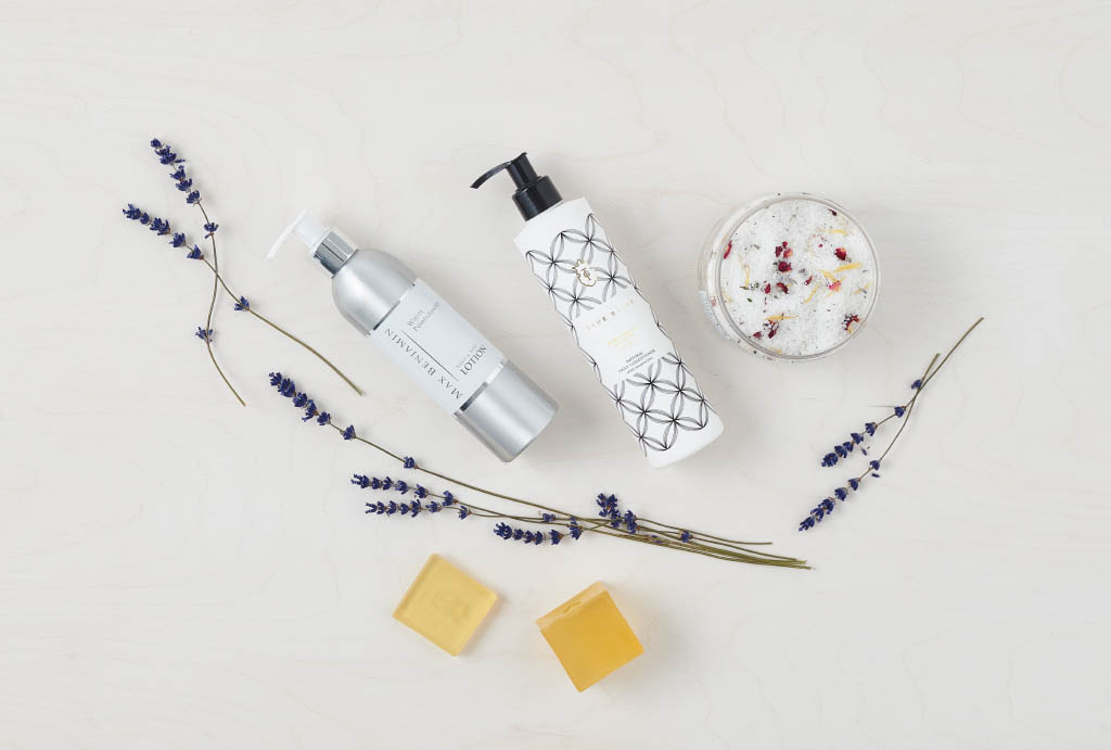 cremes, soaps and lavendel