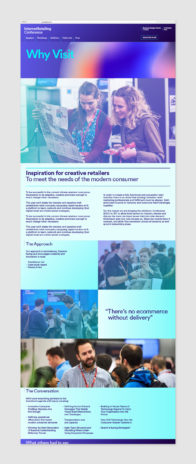 website design in different turquoise, blue and orange shades